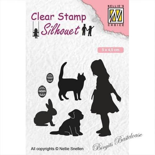 Nellie's Clear Stamp Silhouette Kind, Tiere SIL050