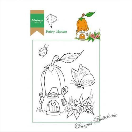 Marianne Design Clear Stamp Elfenhaus, Fairy house HT1641