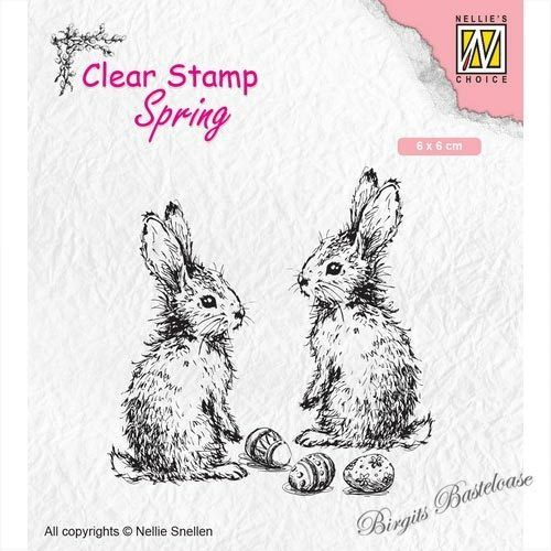 Nellie's Clear Stamp Frühling Hasen Ostern SPCS006