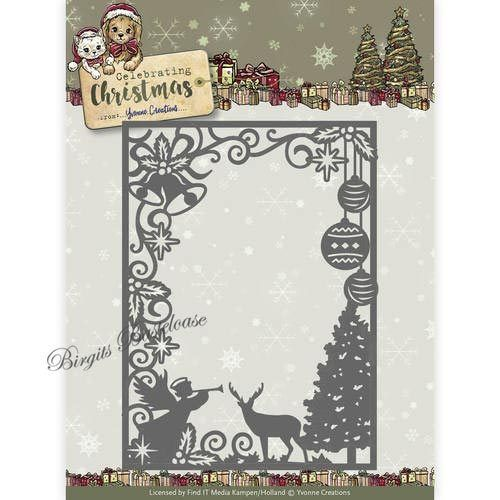 Yvonne Creations Stanzschablone Christmas Scene YCD10114