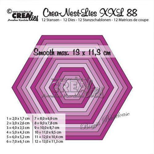 Crealies Crea-Nest-Lies XXL no 44 Stanzschablone Rechteck mit Punkten