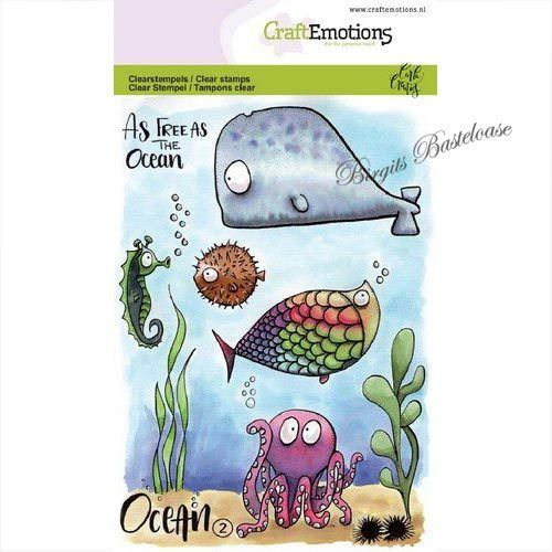 CraftEmotions Clear Stamps Ocean 2 Wal 130501/1622