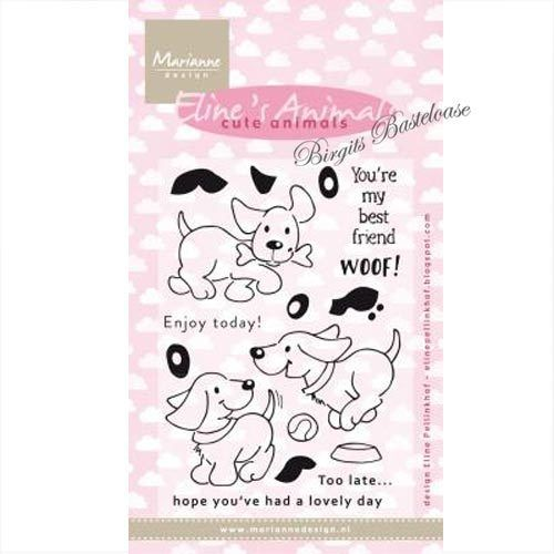 Marianne Design Clear Stamps Eline's puppies EC0177 Hunde