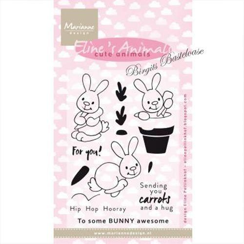 Marianne Design Clear Stamps Eline's bunnies EC0178