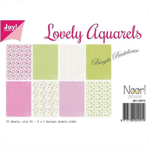 JoyCrafts Design Papier A4 Paper Lovely aquarels 6011/0572