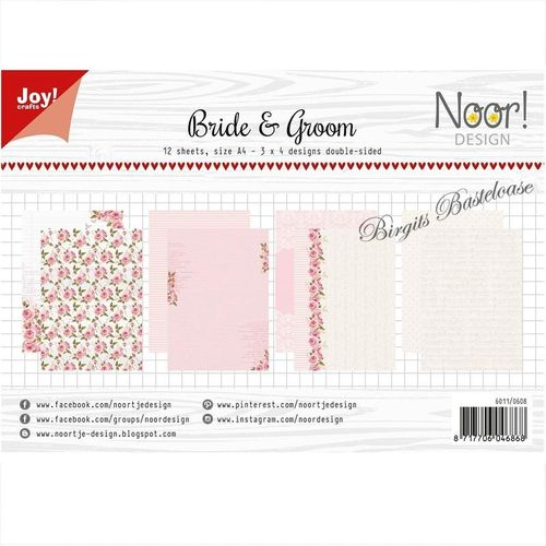 JoyCrafts Design Papier A4 Paper Bride & Groom 6011/0608