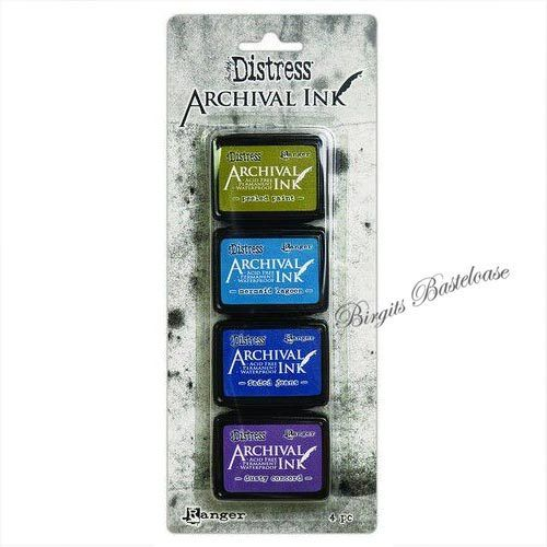 Distress Archival Ink Stempelkissen Mini Kit 2 Ranger AITK64862