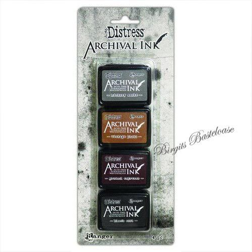 Distress Archival Ink Stempelkissen Mini Kit 3 Ranger AITK64848