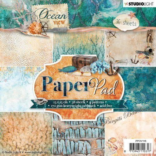 Studio Light Paper Pad 15 x 15 Design Papier Ocean PPOV118