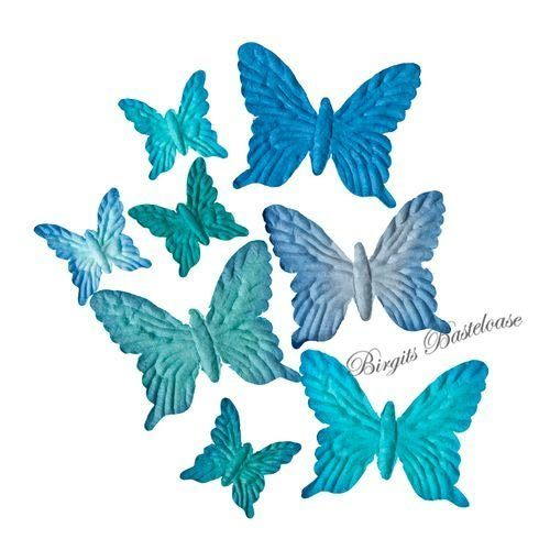 ScrapBerry's Paper Butterfly Set blau 701