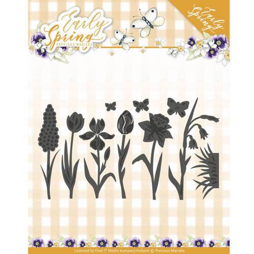 pm10091 Round Flower framame-stanzschablone Precious Marieke