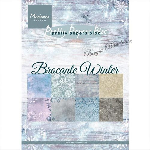 Marianne design Paper bloc A5 Brocante Winter PK9165