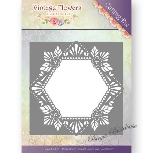 Jeanines Art Stanzschablone Floral Hexagon JAD10031