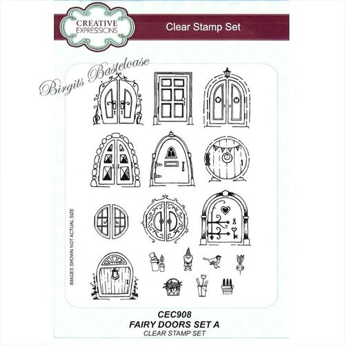 Creative Expressions Clear Stamp Fairy Doors Set A, CEC908