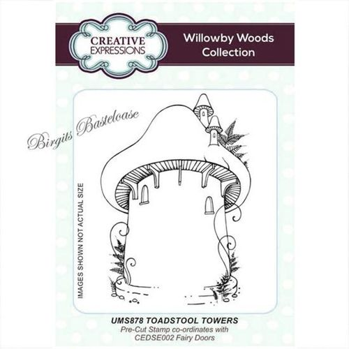 Creative Expressions Cling Stamp Toadstool Towers UMS878