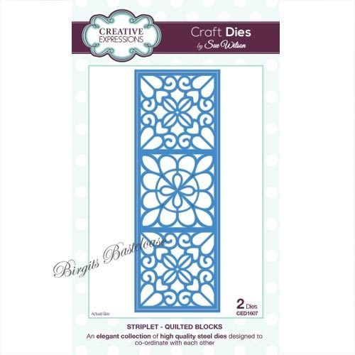 Creative Expressions Dies Striplet Quilted Blocks CED1607