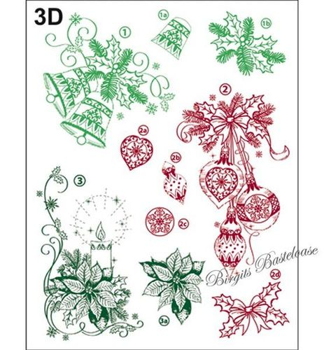 Viva Decor Stempel Clear Stamp Weihnachtsmotive 3D 307000