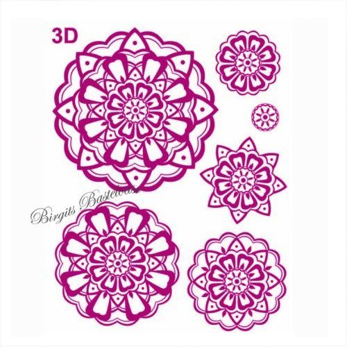 Viva Decor Stempel Clear Stamp 3D Blume 302600
