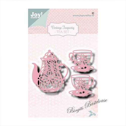 JoyCrafts Stanzschablone Kanne Tassen, Tea Set 6002/1470
