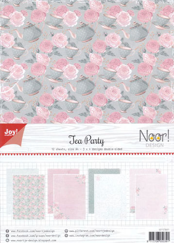 JoyCrafts Design Papier A4 Paper Tea Party 6011/0651
