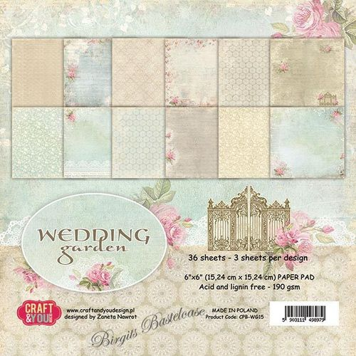 Craft&You Paper Pad 15 x 15 Wedding Garden CPB-WG15