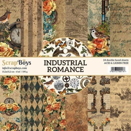 ScrapBoys Industrial Romance 15,2x15,2 Paperpad 0016