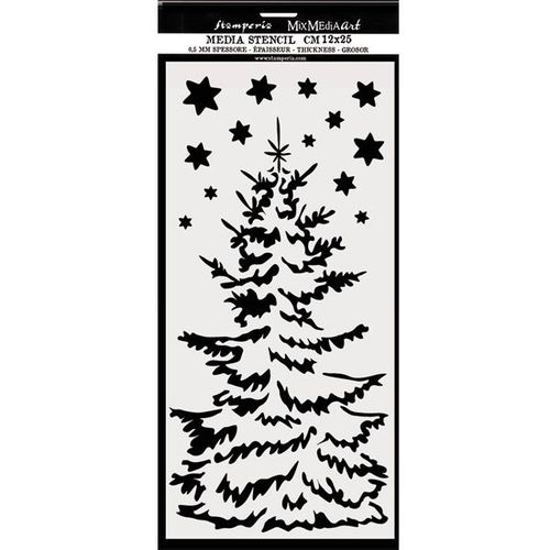 Stamperia Mixed Media Stencil 12x25 Christmas tree KSTDL36