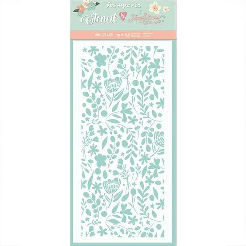 Stamperia Mixed Media Stencil 12x25 Small flowers KSTDL41