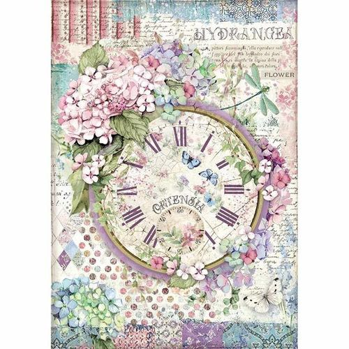 Stamperia Decoupage Rice Paper A4 Clock DFSA4468