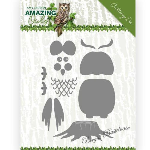 Amy Design Stanzschablone Set Eule, Build up Owl ADD10216