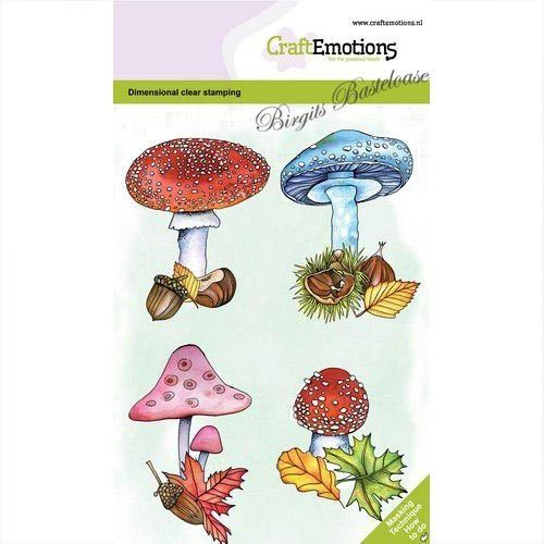 CraftEmotions Clear Stamps Pilze, Blätter 130501/0105