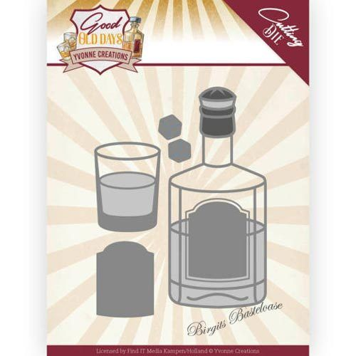 Yvonne Creations Stanzschablone Whisky, Whiskey YCD10221