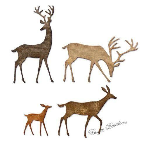 Sizzix Thinlits Darling Deer 664968 Tim Holtz Hirsch, Reh