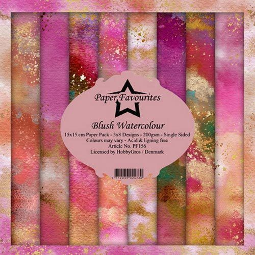 Design Papier Blush Watercolour 15 x 15 cm Paper Pack PF156