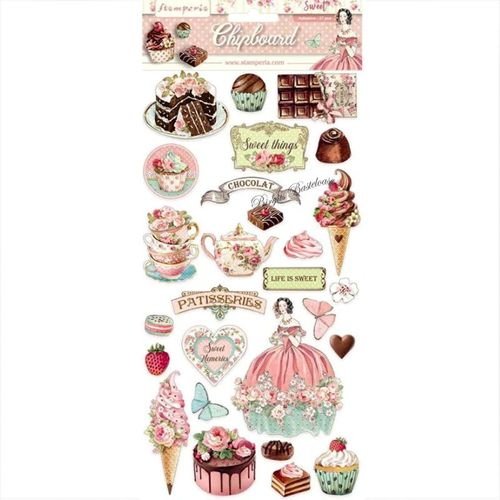 Stamperia Chipboard - 27 tlg. Sweety DFLCB11