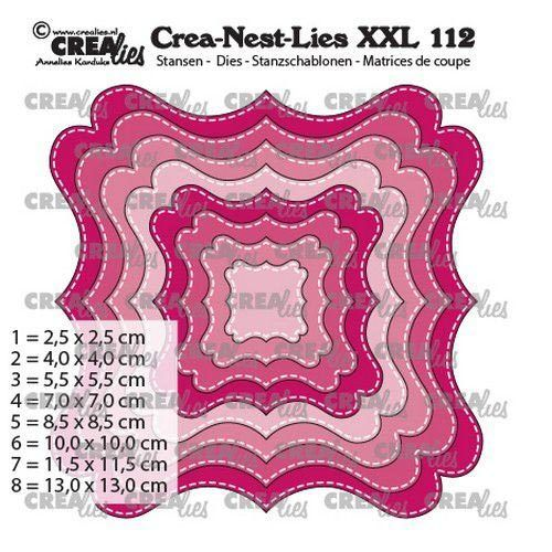 Crealies Nest-Lies XXL 112 Stanzschablone Fantasie form F
